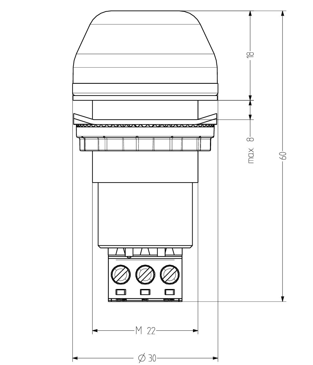 Iss M22 Panel Mount Led Strobe Beacon Circuit Diagram Of High Brightness