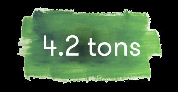 4,2 Tonnen