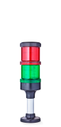 Eco-Modul 70 modular Signal tower Ø 70mm 24 V AC/DC red/green, black