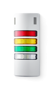 Half-Dome compact Signal towers 24 V AC/DC red/yellow/green/clear, grey (RAL 7035)