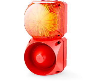 ASL+QDL Multi-tone alarm sounder and LED steady/flashing beacon