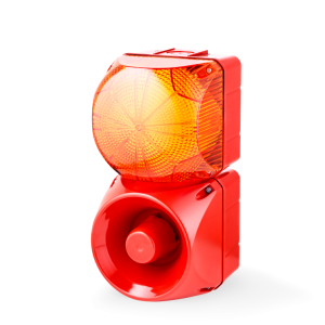ASM+QDM Multi-tone alarm sounder and LED steady/flashing beacon