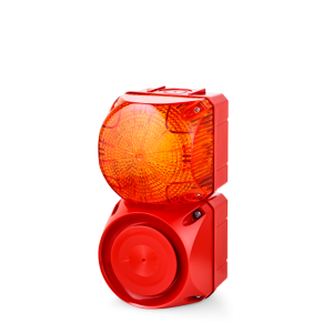 ASS-P+QDS Multi-tone alarm sounder and LED steady/flashing beacon