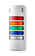 Half-Dome compact Signal towers 24 V AC/DC red/amber/green/blue/clear, grey (RAL 7035)