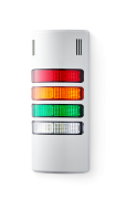 Half-Dome compact Signal towers 24 V AC/DC red/amber/green/clear, grey (RAL 7035)