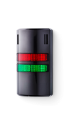 Half-Dome compact Signal towers 24 V AC/DC red/green, black (RAL 9005)