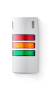 Half-Dome compact Signal towers 24 V AC/DC red/amber/green, grey (RAL 7035)