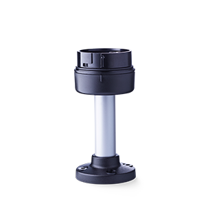 PC7MR Aluminium tube base with plastic foot