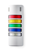 Half-Dome compact Signal towers 24 V AC/DC red/yellow/green/blue/clear, grey (RAL 7035)