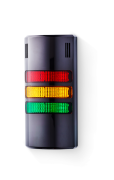 Half-Dome compact Signal towers 24 V AC/DC red/yellow/green, black (RAL 9005)