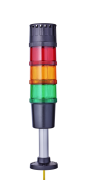 Modul-Compact 70 compact Signal towers Ø 70mm 24 V AC/DC red/orange/green, black (RAL 9005) or grey (RAL 7035)