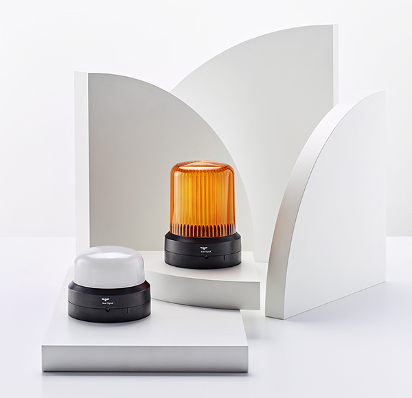 Series R high dome in orange and low dome in white/clear